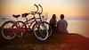 (alliance1) Tags: ocean sunset color beach bicycle hawaii couple maui toned whynot kihei 20142015 fujix100s