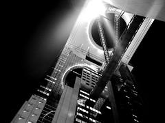 (takashi ogino) Tags: city blackandwhite bw monochrome architecture night digital pentax osaka q7 justpentax 01standardprime