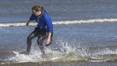 Skim Boarder 001 (KeithProvenArtist) Tags: sea beach sport scotland surf waves play fife standrews westsands skimboarder