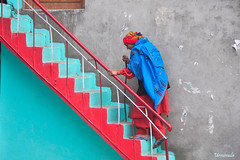 Old age can sometimes be colourful.:-) (mala singh) Tags: woman india house colours clothes himachal