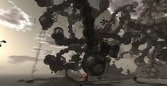 Petrovsky Flux 1 (Hunter_Kingsbury) Tags: clouds pig chair cloudy surreal secondlife contraption dreamlike drseuss propeller artinstallation flyingpig steampunk universityofkansas rubegoldberg flyingchair spencermuseumofart blottoepsilon cuteabenelli petrovskyflux hunterkingsbury pogochair