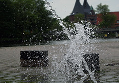 Wasserspiel in Lbeck Water play in Lbeck (thomas nehm) Tags: water deutschland europa play sony brunnen dslr lbeck slt a58 2016 fotomarathon wasserspiel