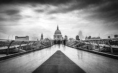 Ghosts of London (Fireproof Creative) Tags: street city longexposure bridge england urban london thames clouds river cityscape cathedral capital milleniumbridge ghosts stpaulscathedral fireproofcreative
