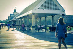 On the boardwalk (everyday_photographer) Tags: people walking pier charleston groups fridayafternoon greatviews placetorelax charlestonwaterfrontpark waterfrontparkpier