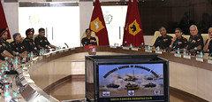 The Chief of Army Staff, General Dalbir Singh attending the first session of the Biennial Armoured Corps Conference, at the Armoured Corps Centre and School, Ahmednagar, Maharashtra (legend_news) Tags: maharashtra ahmednagar thechiefofarmystaff generaldalbirsinghattendingthefirstsessionofthebiennialarmouredcorpsconference atthearmouredcorpscentreandschool