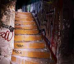 l-haut (dumond79) Tags: city france up graffiti tag ruin staircase urbex