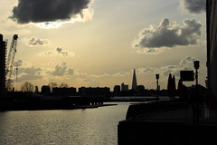Canary Wharf River (iam.josh) Tags: park city london skyline landscape stpauls olympic canarywharf lighttrail