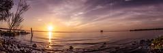 Ballyronan panorama (Sasquatchpics) Tags: panorama sun water sunrise reflections rocks ulster nireland loughneagh multipleshot colondonderry ballyronan canons95