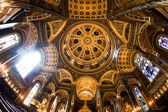 luminosity ... (mariola aga) Tags: light sunlight church wisconsin interior basilica ceiling fisheye milwaukee lensflare dome opticaleffect thegalaxy basilicaofstjosaphat