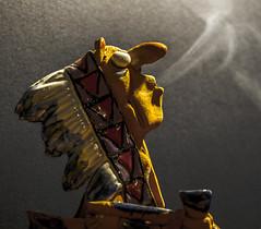 Indian old style (M_Theory) Tags: macro nikon indian smoke pipa indiano incenso fumo