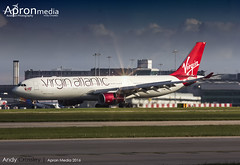 G-VINE   Virgin   Airbus A330 (Andy Crossley - Apronmedia.com) Tags: trip travel blue vacation sky cloud white tourism modern illustration speed plane airplane manchester fly high airport technology dynamic background aircraft aviation web air transport flight over wing jet engine away icon cargo landing business international busy journey commercial transportation airline airbus a380 passenger boeing concept success airliner crossley 2016 airbusa380 qatarairways travelicon apronmedia