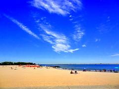 Summer Panorama (dimaruss34) Tags: summer sky newyork brooklyn image manhattanbeach dmitriyfomenko