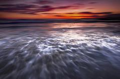Lieve la brezza, bianca la spuma volava... (Salvatore Brontolone) Tags: sunset sea sky beach tramonto mare cielo bacoli spiaggia schiuma torregaveta