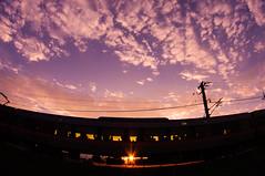 Minobu Line  (tenugui) Tags: sunset train twilight sundown railway  yamanashi      smcpdafisheye1017mmf3545edif