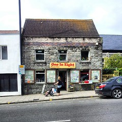 Horfield. Gloucester Road. Curiosity shop using... (jules hynam) Tags: charity shop bristol horfield uploaded:by=flickstagram instagram:photo=27440231940402706432916970