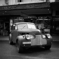 1940 Chevy (Colin_Bates) Tags: festival lady restaurant cafe 1940 chevy luck nsw katoomba paragon