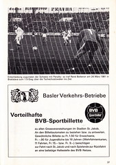 Switzerland vs England - 1981 - Page 39 (The Sky Strikers) Tags: world england cup st schweiz switzerland official basel 150 jakob fr programme offizielles programm qualifier fussballstadion