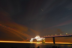 P6260247 (Zengame) Tags: bridge japan architecture night pen tokyo illumination landmark olympus illuminated cc jp creativecommons   zuiko   penf    wakasu   mzuiko  tokyogatebridge 12mmf20 mzuikodigitaled12mmf20  livecomposite