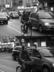 [La Mia Città][Pedala] (Urca) Tags: portrait blackandwhite bw bike bicycle italia milano bn ciclista biancoenero mirò bicicletta 2016 pedalare dittico 84026 nikondigitale ritrattostradale