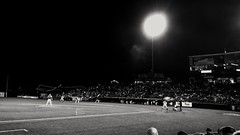 Night Game (Tim Loesch) Tags: night blackwhite nj mercercounty minorleaguebaseball minorleagues trentonthunder