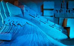 Maersk and Lego Sand Sculpture (Morten Kirk) Tags: sculpture art festival museum zeiss denmark sand kunst sony ii f2 danmark sandsculpture morten kirk 25mm 225 distagon batis hundested sandskulptur nordsjælland a7r halsnæs batis225 sonya7rii a7rii zeissbatis225 ilce7rm2 batis25mmf2 mortenkirk