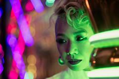 Neon Palace (Jon Siegel) Tags: city light urban woman girl beautiful japan night reflections japanese tokyo nikon shinjuku neon bladerunner modeling 14 85mm nikkor cinematography cinematic contrasts futuristic wongkarwai 85mmf14 d810