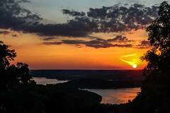 Missouri Sunset (jhoff1257) Tags: sunset sun lake water colors beautiful clouds sailboat landscape outside coast boat reservoir missouri orangesky setting branson ozark tablerock tablerocklake colorfulsky bodyofwater missourisunset missourilake visitmo
