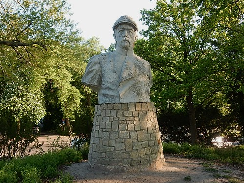 Statue With Moustache