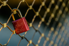 One Way Love (*Capture the Moment*) Tags: lake macro water fence see wasser lock zaun 2016 schlos elemente sonya7ii sonysel90m28g
