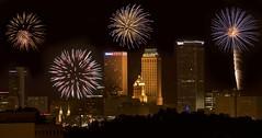 Tulsa Fireworks (Pejasar) Tags: 16thefloor spectacular downtown tulsa oklahoma fireworks 4thofjuly night skyline cityscape