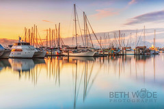 Marina Reflections (Beth Wode Photography) Tags: marina sunrise reflections boats dawn harbour beth yachts herveybay wode herveybaymarina bethwode