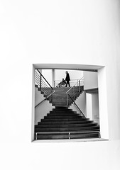 In Frame (Georgie Pauwels) Tags: white geometric window public lines museum stairs geometry frame
