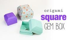 Square Origami Gem Box Tutorial  DIY  (paperkawaii) Tags: origami instructions paperkawaii papercraft diy how video youtube tutorial