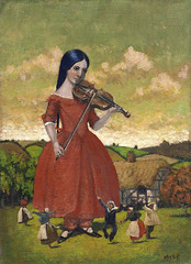 140606 (kevinmcsherryartist) Tags: giant giantess fiddle fiddler dance victorian victoriana thatch country bucolic pastoral colman saint fair ferast dublin irl