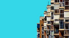 Lleig mosaic d'estiu (lluiscn) Tags: mosaic mosaico textura texture cel sky perell valncia vivendes viviendas finques finca edifici cases casa finestres ventanas balcones balcons rajoles ladrillos ladrillo platja blau blue bleu azul