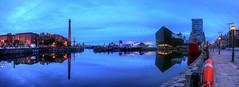 Dawn Breaks Over Canning Dock (Non Paratus) Tags: canningdock wharf docks harbor barbour bluehour liverpool merseyside england uk rivermersey portofliverpool albertdock museumofliverpool mannislandbuildiings maritimemuseum