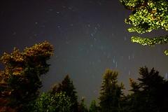 scanning the heavens (SqueakyMarmot) Tags: vancouver suburb burnaby burnabymountainpark night summer sky startrails longexposure
