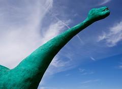 long neck (primemundo) Tags: dinosaur roadside longneck neck sky