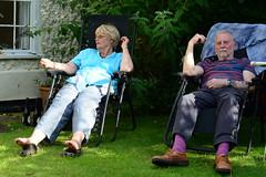 Mum and Dad (Bob Hawley) Tags: suffolk saxmundham england summerholidays people family nikond7100 nikon50mmf14 gardens