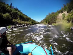 Rafting the Klamath River: Gunsmoke (Class III, Mile 5.7) (BLMOregon) Tags: rafting rapids raft pov klamath river wild scenic blm bureauoflandmanagement upperklamath recreation oregon klamathfalls gunsmoke