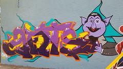 Ants the count. (_ants) Tags: ants graffiti streetart thecount sesamestreet