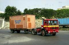Cumbo Bros. Buffalo 2 (ergomammoth) Tags: lorry lorries truck trucks leyland leylandbuffalo2 artic articulated tractorunit britishleylandtruckbusdivision ergomatic tiltcab maltesetrucks maltesetransport grandharbour valletta malta cumbobros transportliftingservice