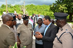 Prime Minister, the Most Hon. Andrew Holness, tours the Norwood Community in St. James
