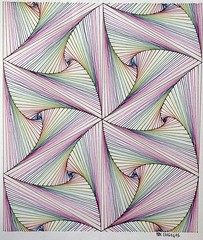 20160415 (regolo54) Tags: tessellation tiling wallpaper escher handmade symmetry geometry mathart regolo54 amsterdam rainbow structure