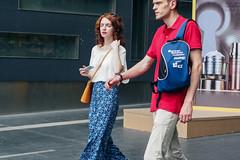(yangkuo) Tags: bukitbintang street brunette features style walking snapshot sling tote bag longskirt chiffon blouse