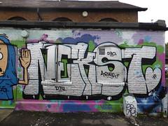 Nekst graffiti, Markfield Park (duncan) Tags: markfieldpark tottenham nekst