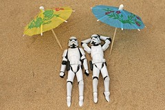 Stormtroopers at the beach by Leigh/J/M, on Flickr