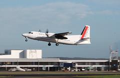 OO-VLQ (aitch tee) Tags: aircraft takeoff cityoflondon fokker50 walesuk cardiffairport cityjet scheduledservice oovlq namedaircraft