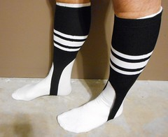 70's 80's Football officials stirrup socks. (Football Officials Referee Uniforms) Tags: school white classic college sports field socks vintage back football athletic high referee sock side canadian line 80s 70s judge league cfl umpire stirrup linesman