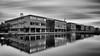 Campus Reflections..... (klythawk) Tags: nottingham black reflections grey nikon modernarchitecture universityofnottingham whhite d610 daytimelongexposure 1835mm jubileecampus stackedfilters bwnd klythawk 10stop6stop